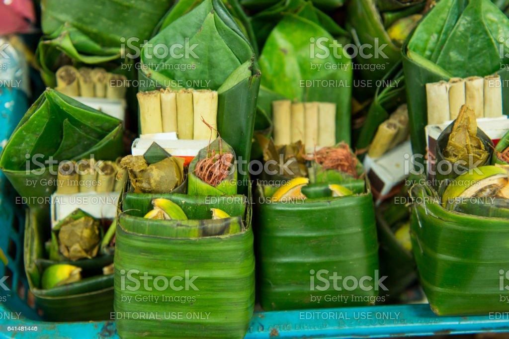 ASIA THAILAND CHIANG MAI TALAT WAROROT BETEL NUT stock photo