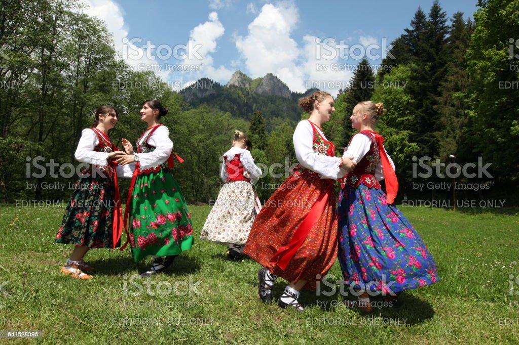 EUROPE SLOVAKIA CERVENY KLASTOR FOLK FESTIVAL stock photo