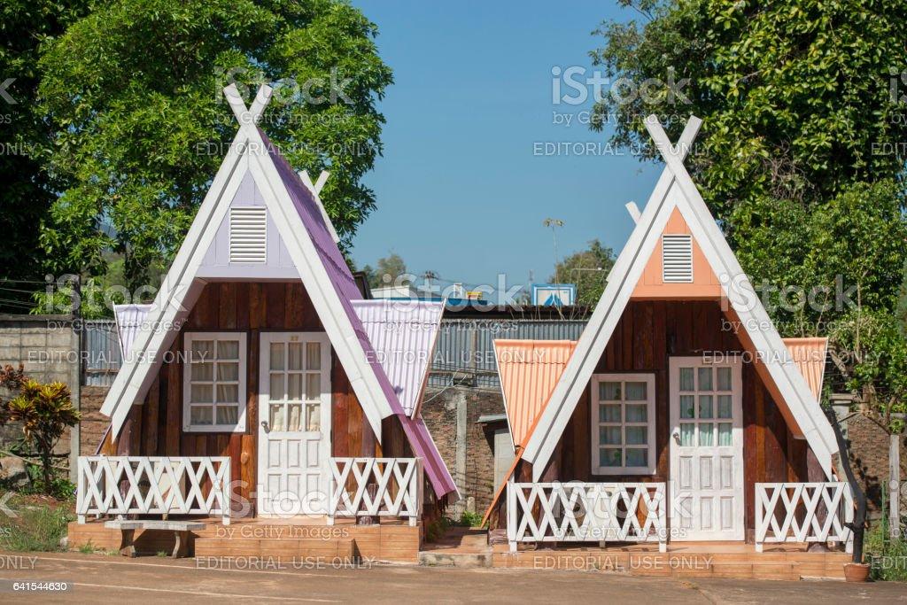 THAILAND KANCHANABURI THONG PHA PHUM HOUSE stock photo