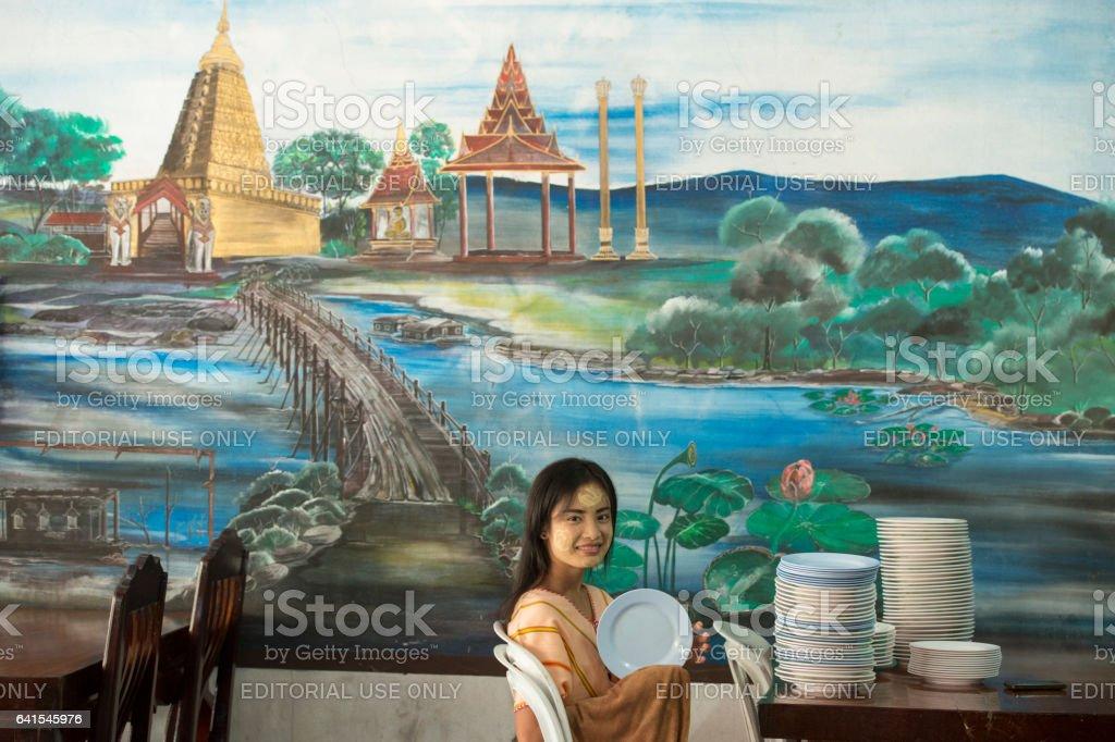 THAILAND KANCHANABURI THONG PHA PHUM PEOPLE stock photo