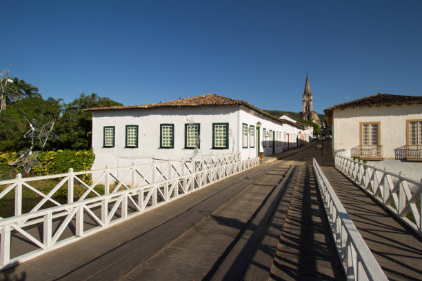 CITY OF GOIAS, BRAZIL Old house in the historic centre of City Of Goias on January, 2017, City Of Goias, Brazil. goias stock pictures, royalty-free photos & images