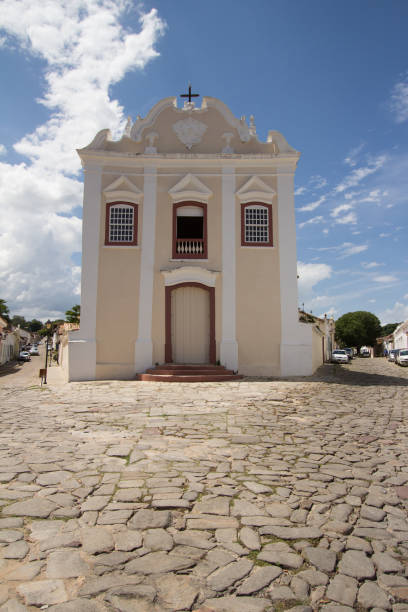 CITY OF GOIAS, BRAZIL Church in the historic centre in City Of Goias on January, 2017 goiás city stock pictures, royalty-free photos & images