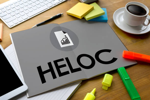 HELOC (Home Equity Line of Credit) stock photo