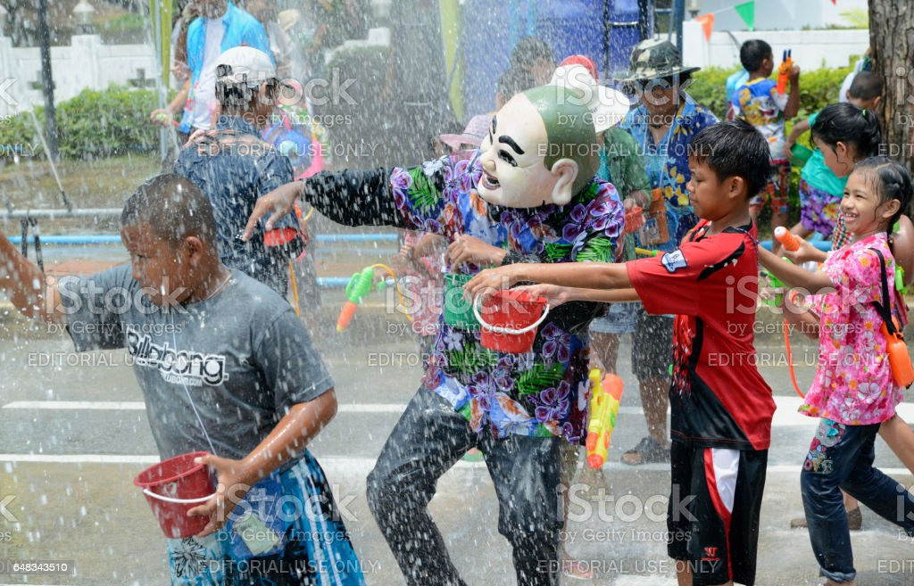 ASIA THAILAND AYUTTHAYA SONGKRAN FESTIVAL stock photo