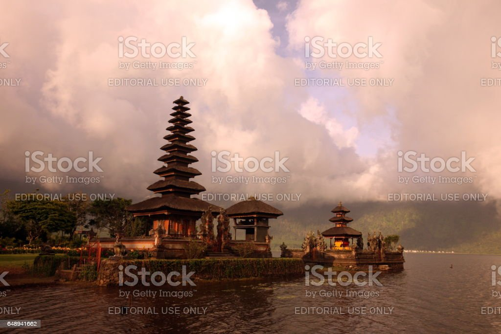 ASIA INDONESIA BALI LAKE BRATAN PURA ULUN DANU TEMPLE stock photo