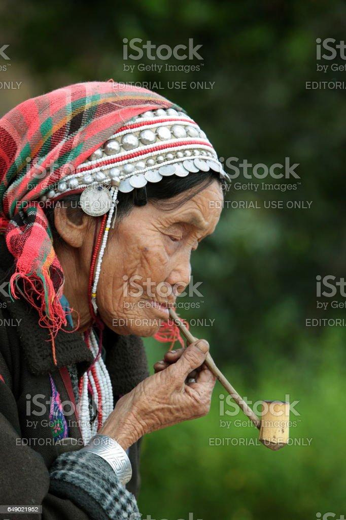 ASIA THAILAND CHIANG MAI FANG AKHA stock photo