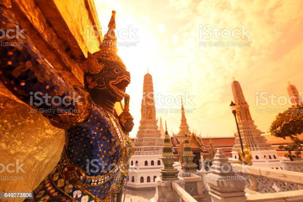 the temple of Wat Phra Kaew in the city of Bangkok in Thailand in Southeastasia.