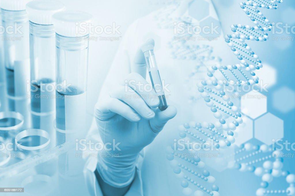 医療・研究イメージ 遺伝子にかかわるイメージ stock photo