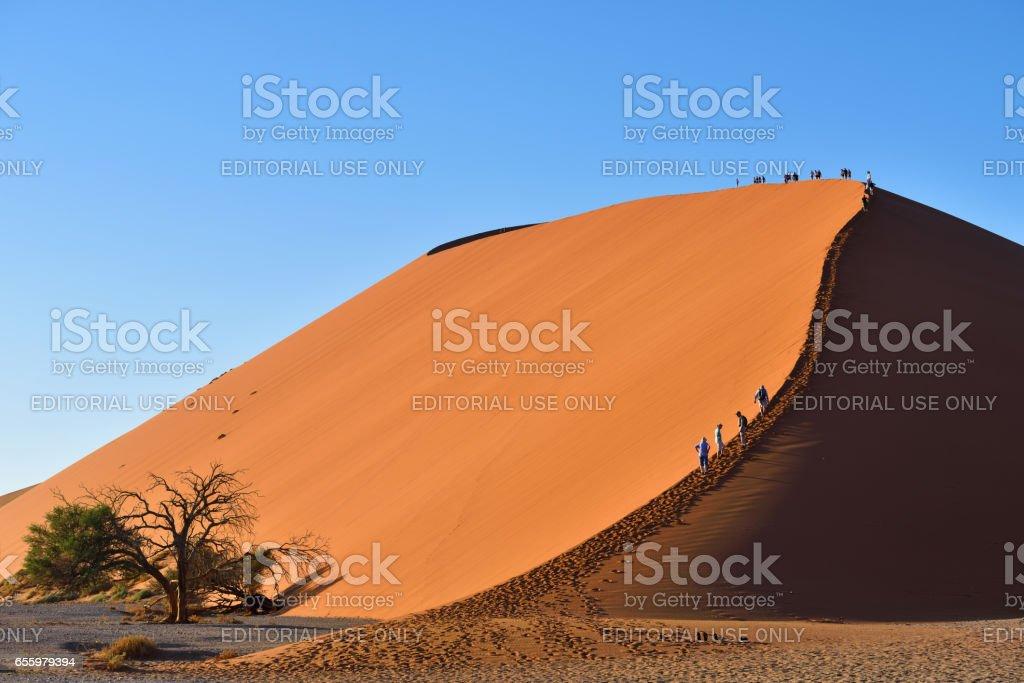 SOSSUSVLEI, NAMIBIA, DUNE 45 stock photo