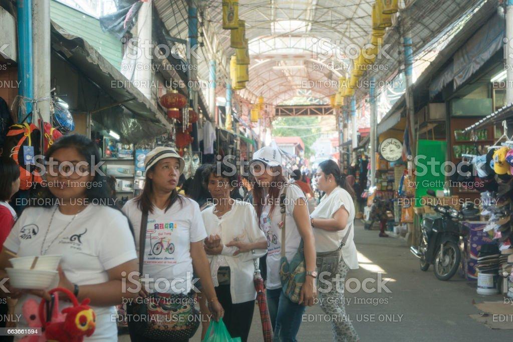 THAILAND CHIANG RAI MAE SAI MARKETSTREET stock photo