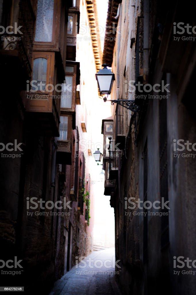 TOLEDO STREETS SPAIN foto de stock libre de derechos