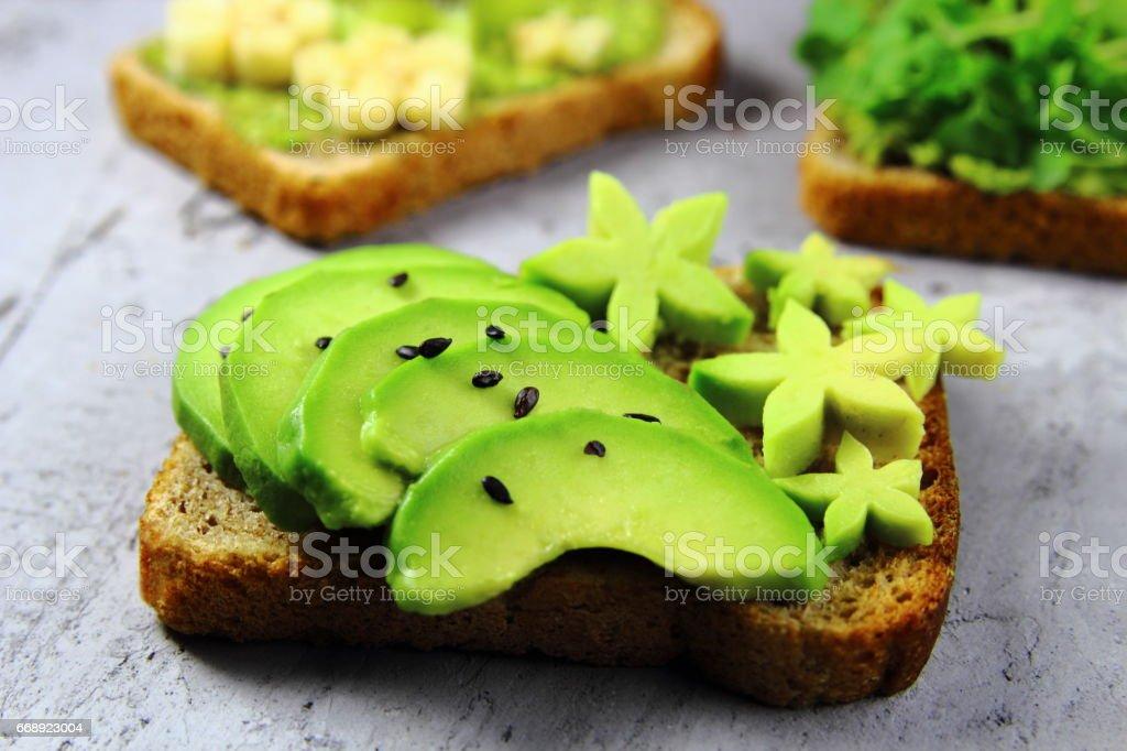 тост с авокадо stock photo
