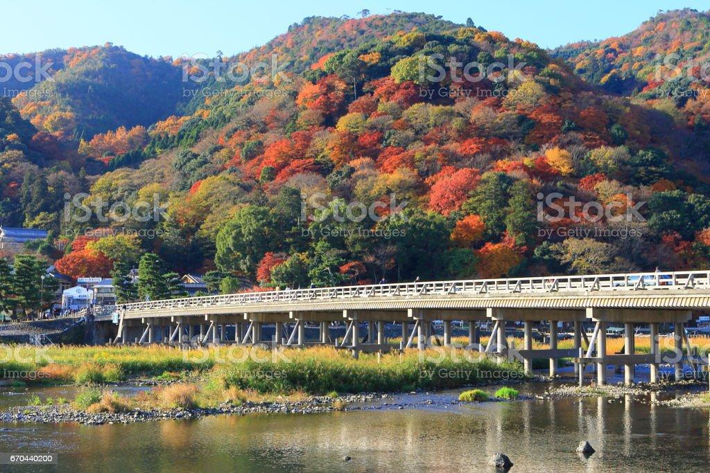 京都 嵐山の秋 - foto stock