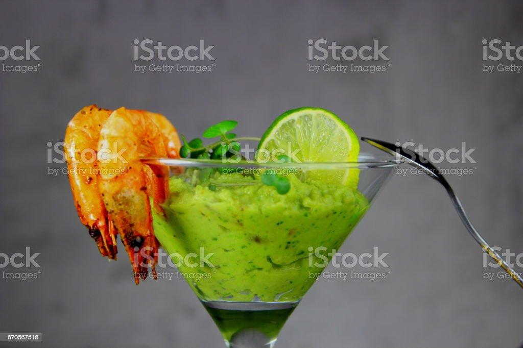 закуска из авокадо stock photo