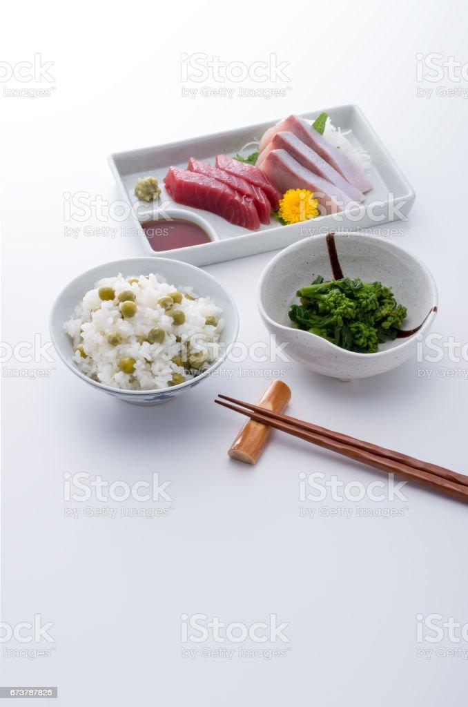 お刺身定食 royalty-free stock photo