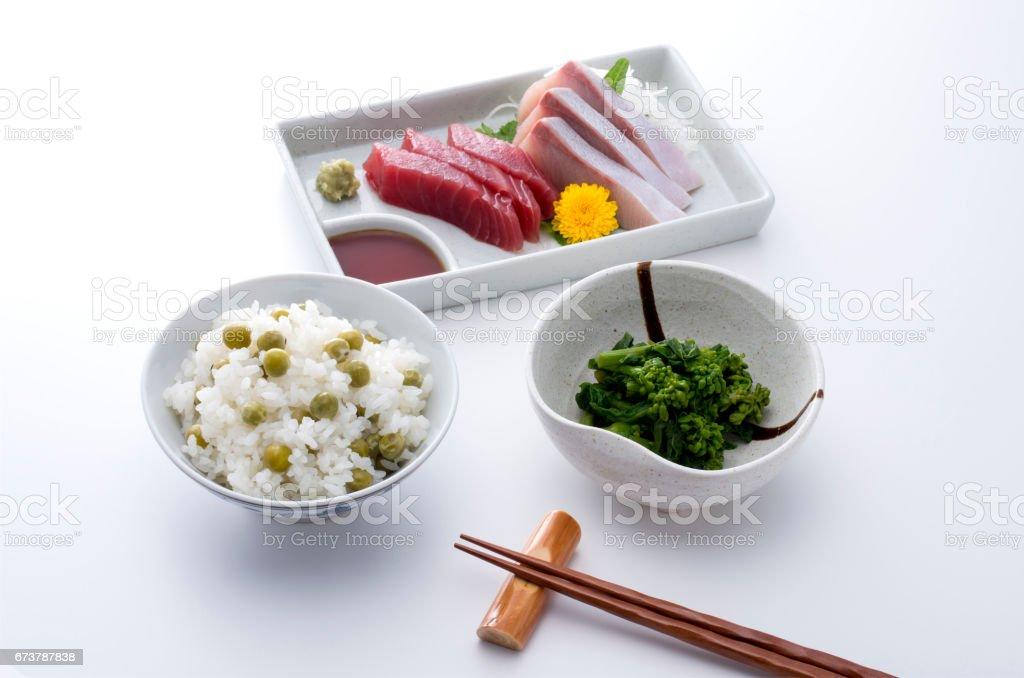 お刺身定食 photo libre de droits