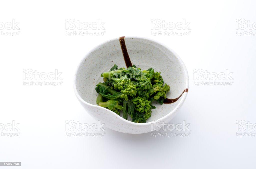 菜の花のおひたし stock photo