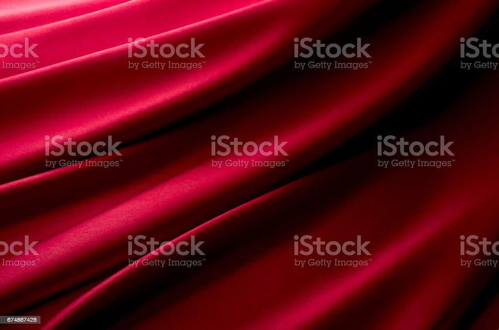 深紅のサテンの背景素材 stock photo