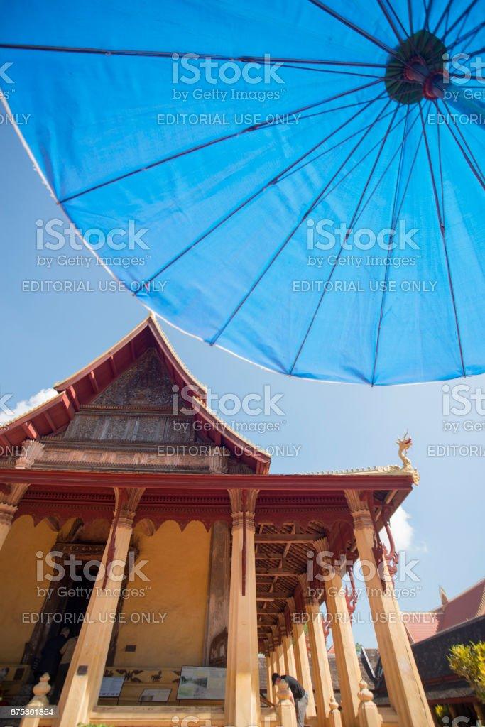 LAOS VIENTIANE WAT SI SAKET stock photo