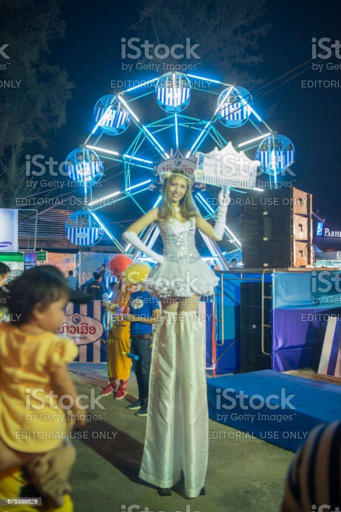 LAOS VIENTIANE PHA THAT LUANG FESTIVAL photo libre de droits