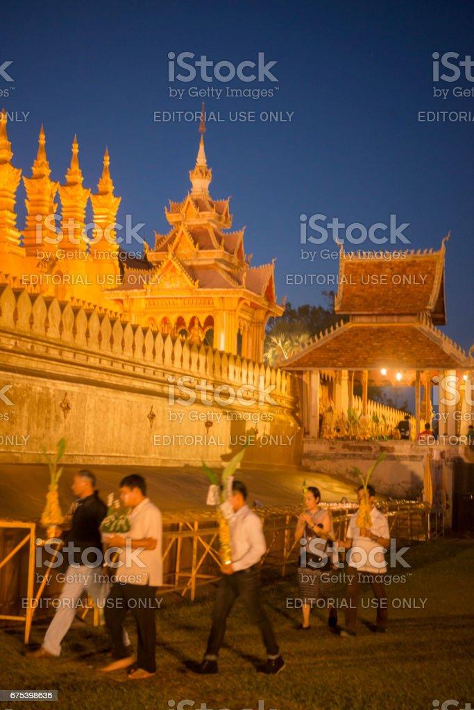 LAOS VIENTIANE PHA THAT LUANG royalty-free stock photo