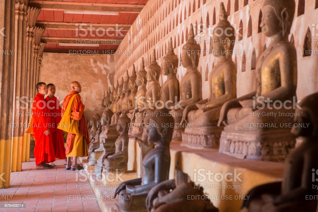 LAOS VIENTIANE WAT SI SAKET royalty-free stock photo