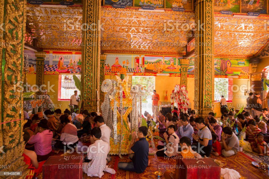 LAOS VIENTIANE THAT LUANG FESTIVAL WAT SI MUANG royalty-free stock photo