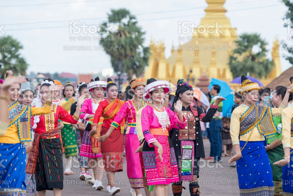 LAOS VIENTIANE PHA THAT LUANG FESTIVAL royalty-free stock photo