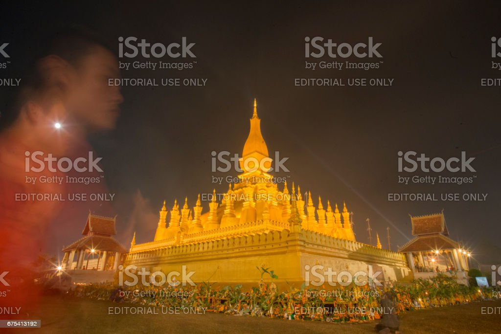 LAOS VIENTIANE PHA THAT LUANG photo libre de droits