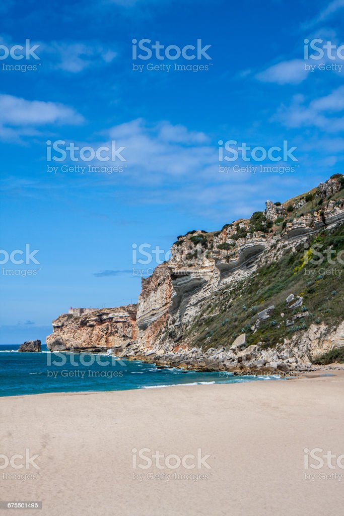 ナザレのビーチ photo libre de droits