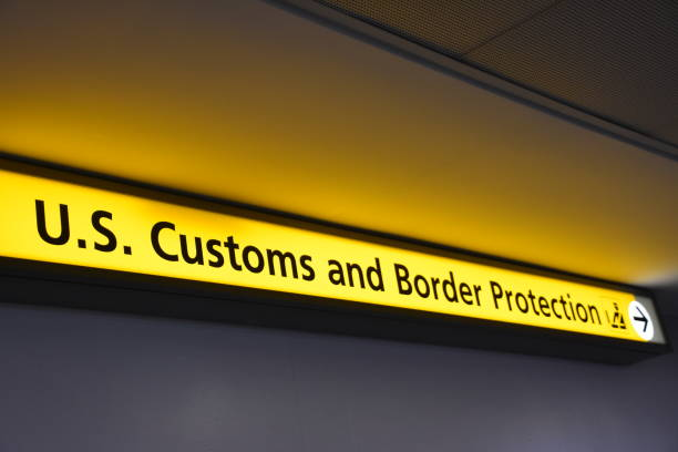 US CUSTOM AND BORDER PROTECTION US CUSTOM AND BORDER PROTECTION department of homeland security stock pictures, royalty-free photos & images