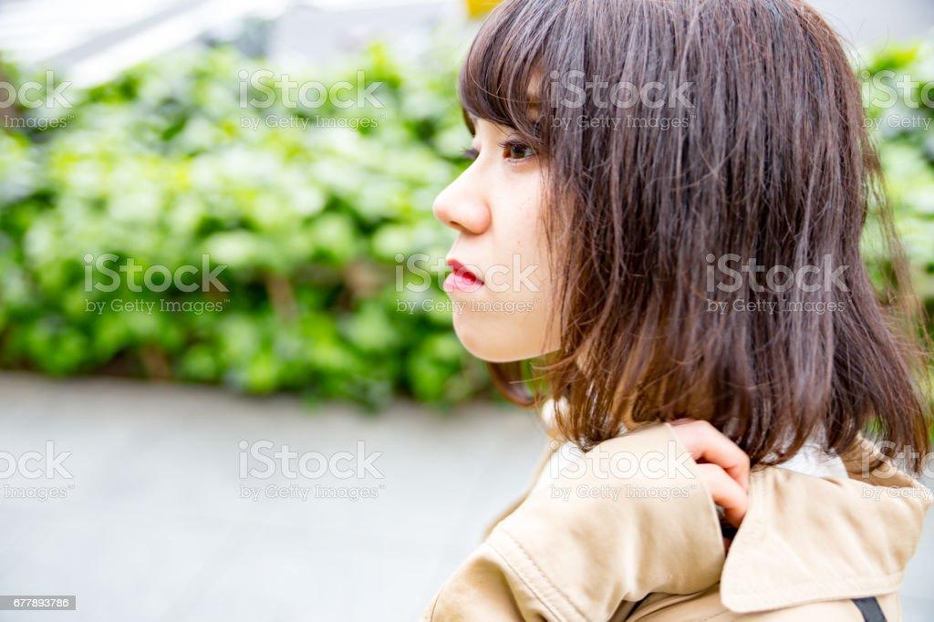 横顔が可愛い 女性 royalty-free stock photo