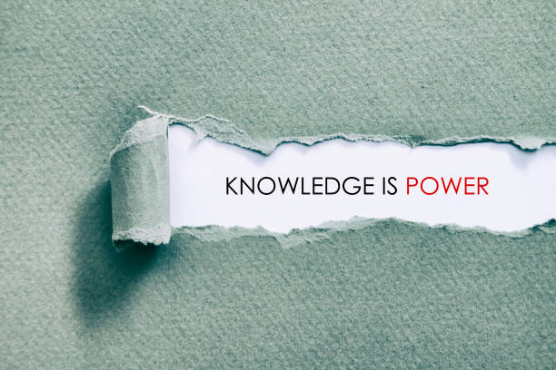 KNOWLEDGE IS POWER stock photo