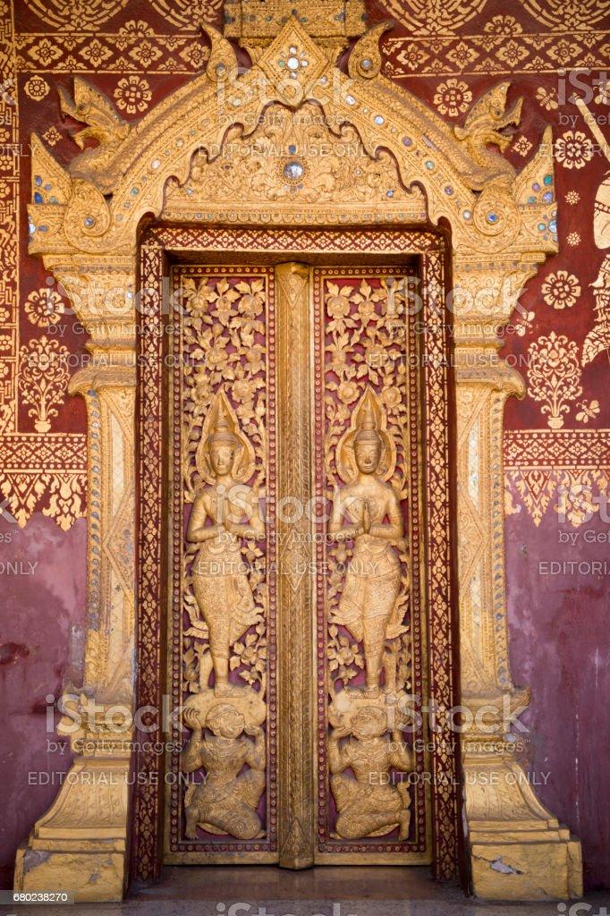 LAOS LUANG PRABANG WAT SENSOUKARAM stock photo
