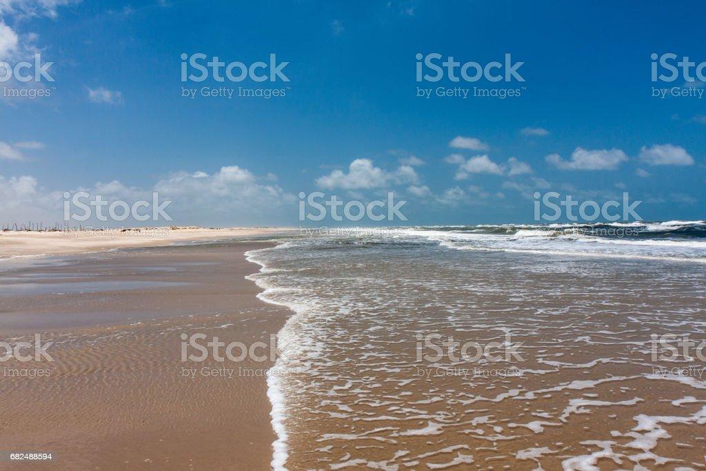 ブラジルの漁村にある大西洋の海岸 royalty free stockfoto