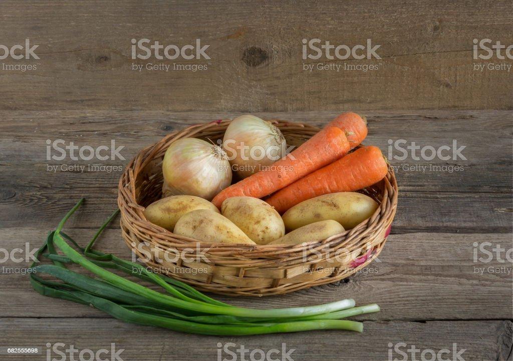 Корзинка с овощами royalty-free stock photo