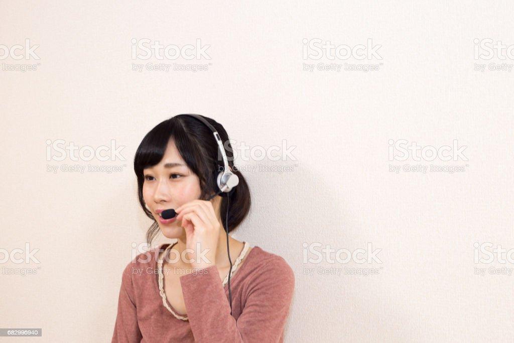 コールセンター 美しい女性 foto de stock royalty-free