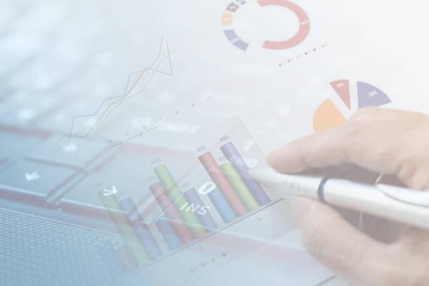 ビジネスイメージ グラフ - グラフ stok fotoğraflar ve resimler