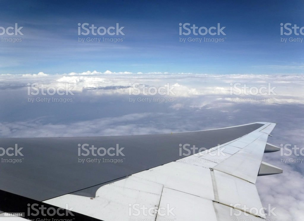 雲海 翼 飛行機 royalty-free stock photo