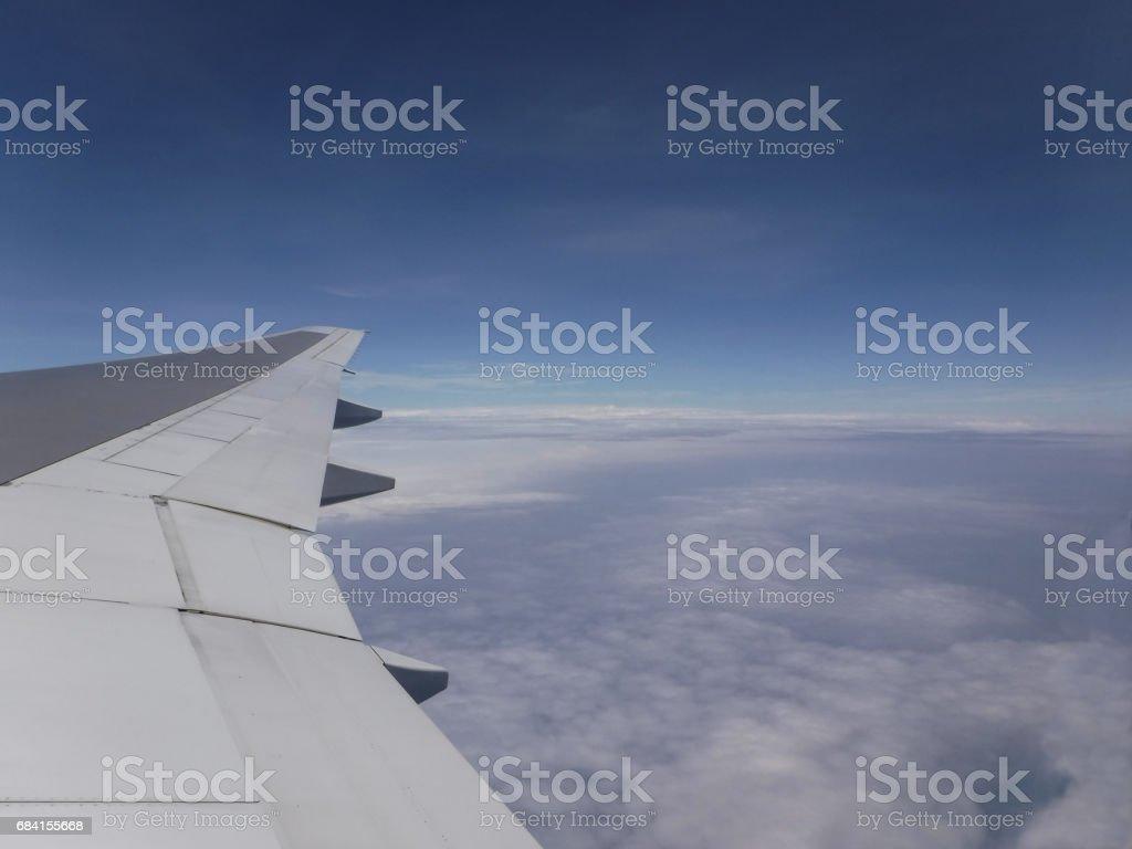 雲海 翼 飛行機 Lizenzfreies stock-foto