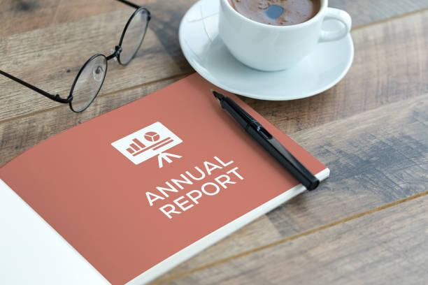 ANNUAL REPORT CONCEPT stock photo