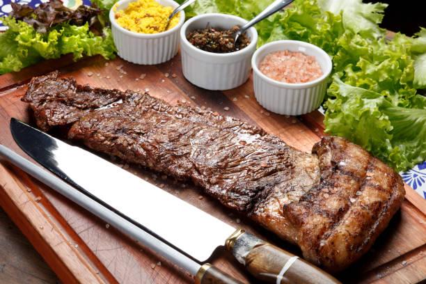 flank steak - flank steak marinaden stock-fotos und bilder