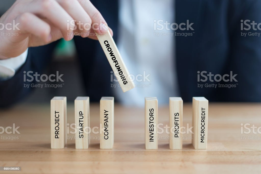 CROWDFUNDING CONCEPT stock photo