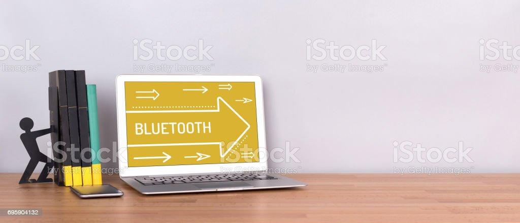 CONCEPTO DE BLUETOOTH - foto de stock