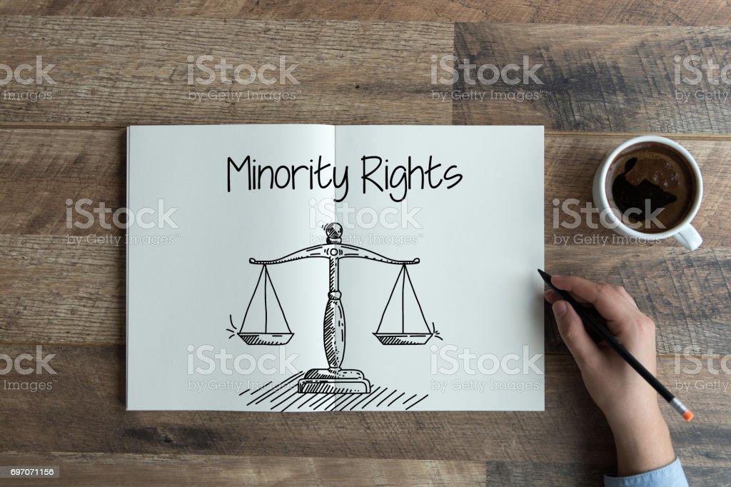 MINORITY RIGHTS CONCEPT stock photo
