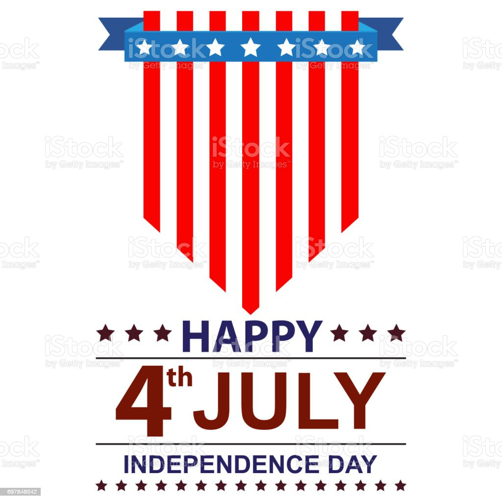 USA INDEPENDENCE DAY HAPPY stock photo