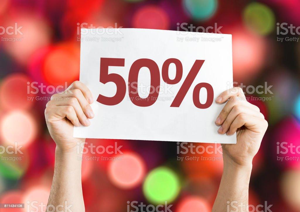 50% - foto de acervo