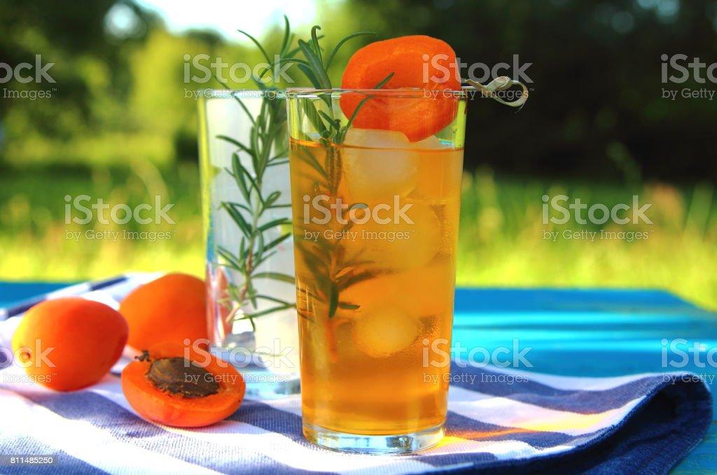 абрикосовый лимонад stock photo