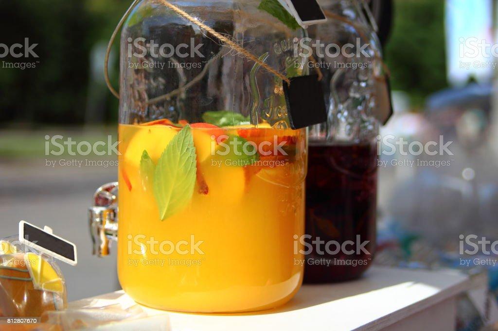 персиковый лимонад stock photo