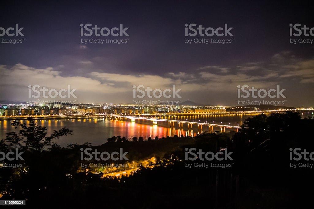 한강 야경 stock photo